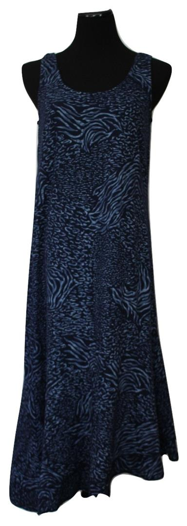 Angelfish Size M Navy Mid-Calf Beach Summer Dress