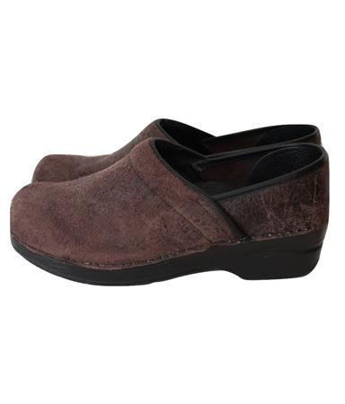 """Raw"" Leather Professional Clogs Nurses Chef Shoes Size 39 8.5"