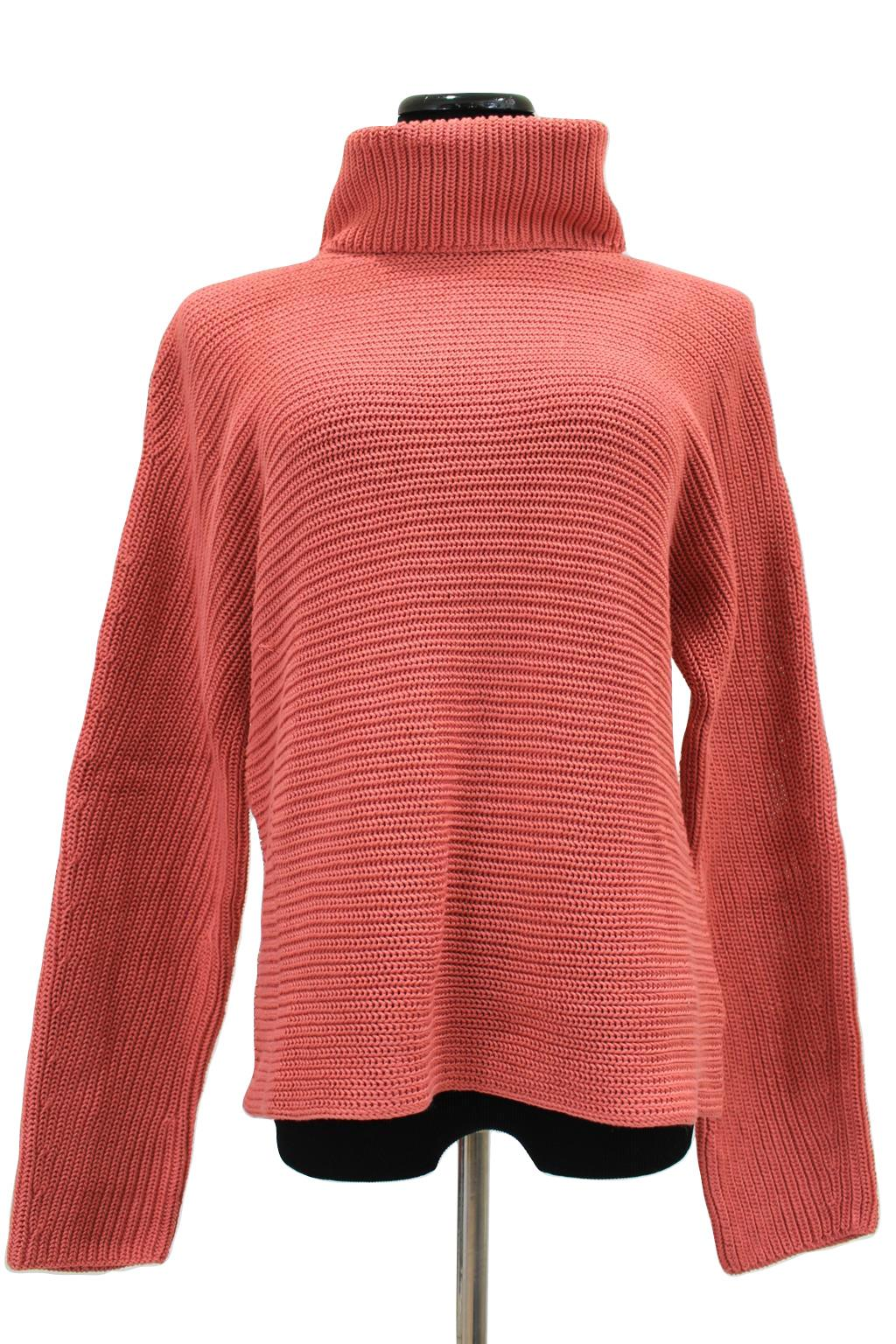 Apricot Wide Horizontal Ribbed Sweater Size M