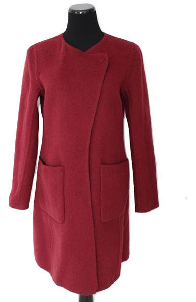 Fabulous Cranberry Reversible To Black Alpaca Wool Jacket Coat Size 8