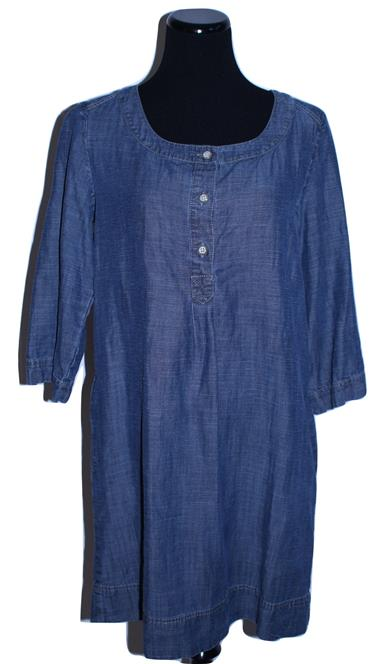 Comfy Denim Tunic Shift Dress With Pockets Size S