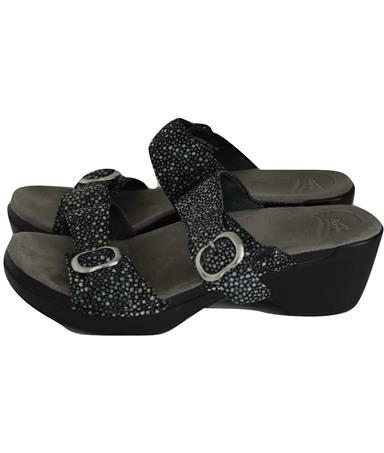 """""""Sophie"""" Double Strap Pebbled Sandals Size 41 10.5"""
