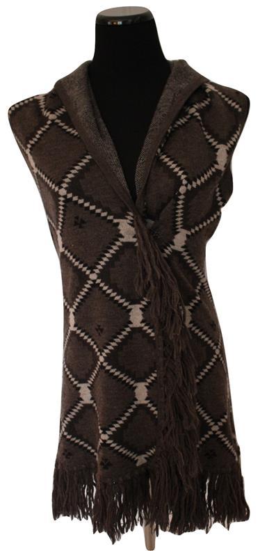 Alice & Olivia Gringed Southwestern Sweater Vest Size Xs